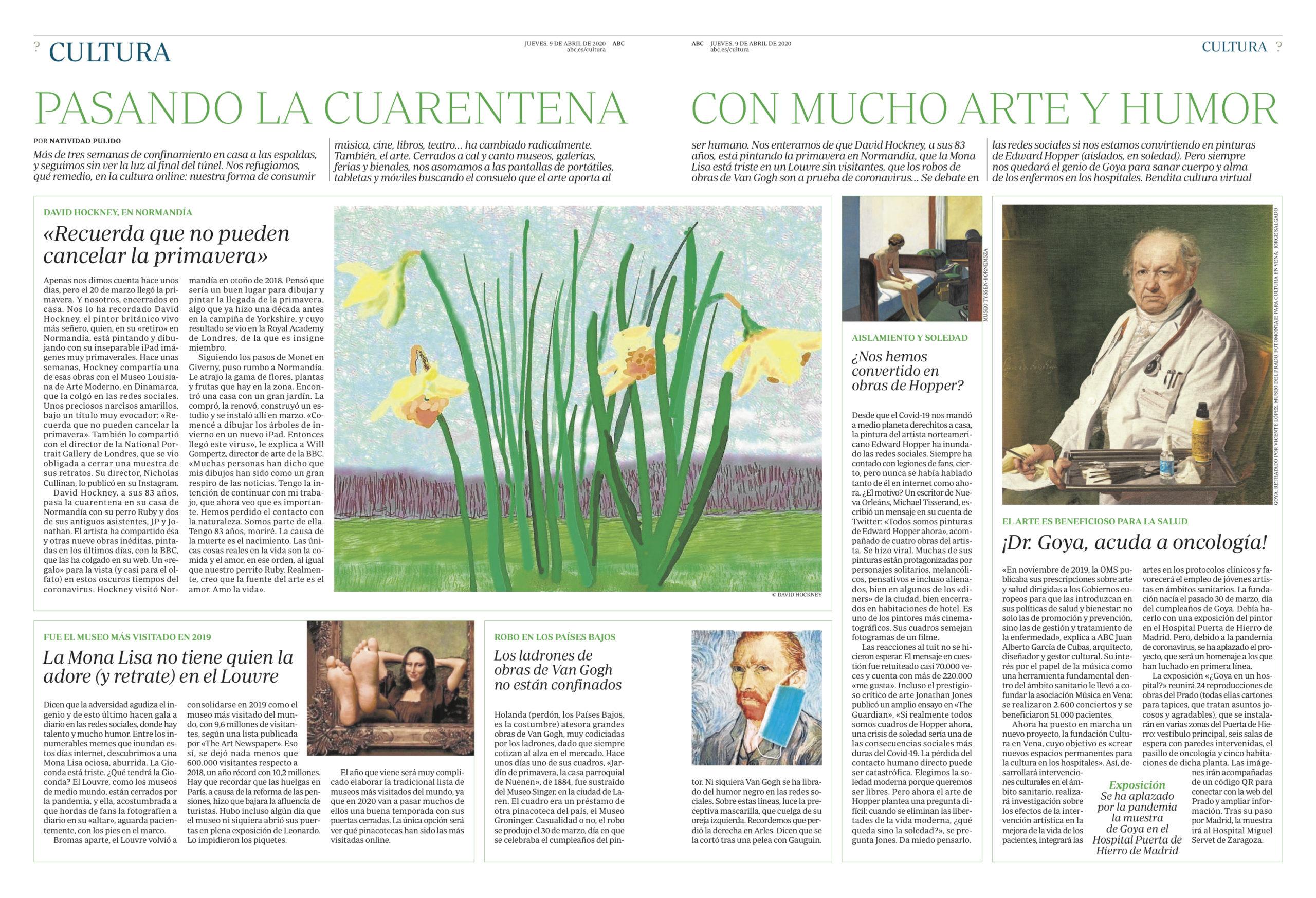 Cultura en Vena_Diario ABC_Goya en un hospital_Arte_Salud