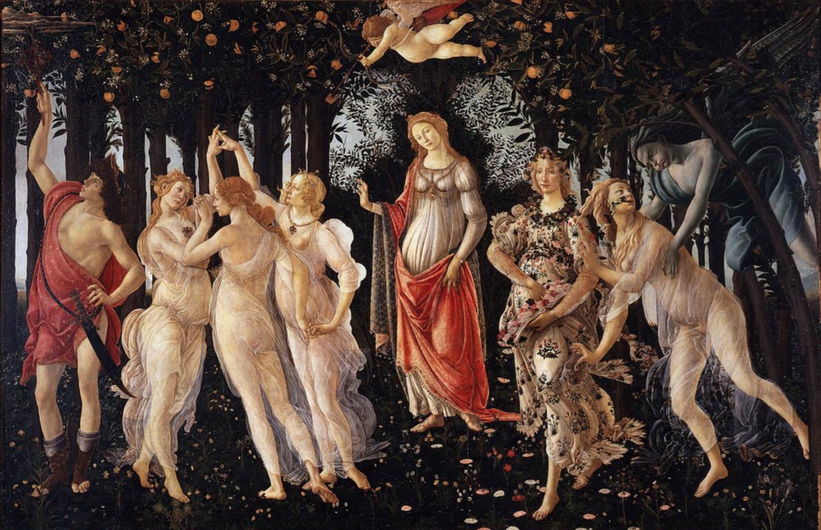 Botticelli Primavera Cultura en Vena Covid19 Pandemia Cuarentena Arte Salud Hospitales