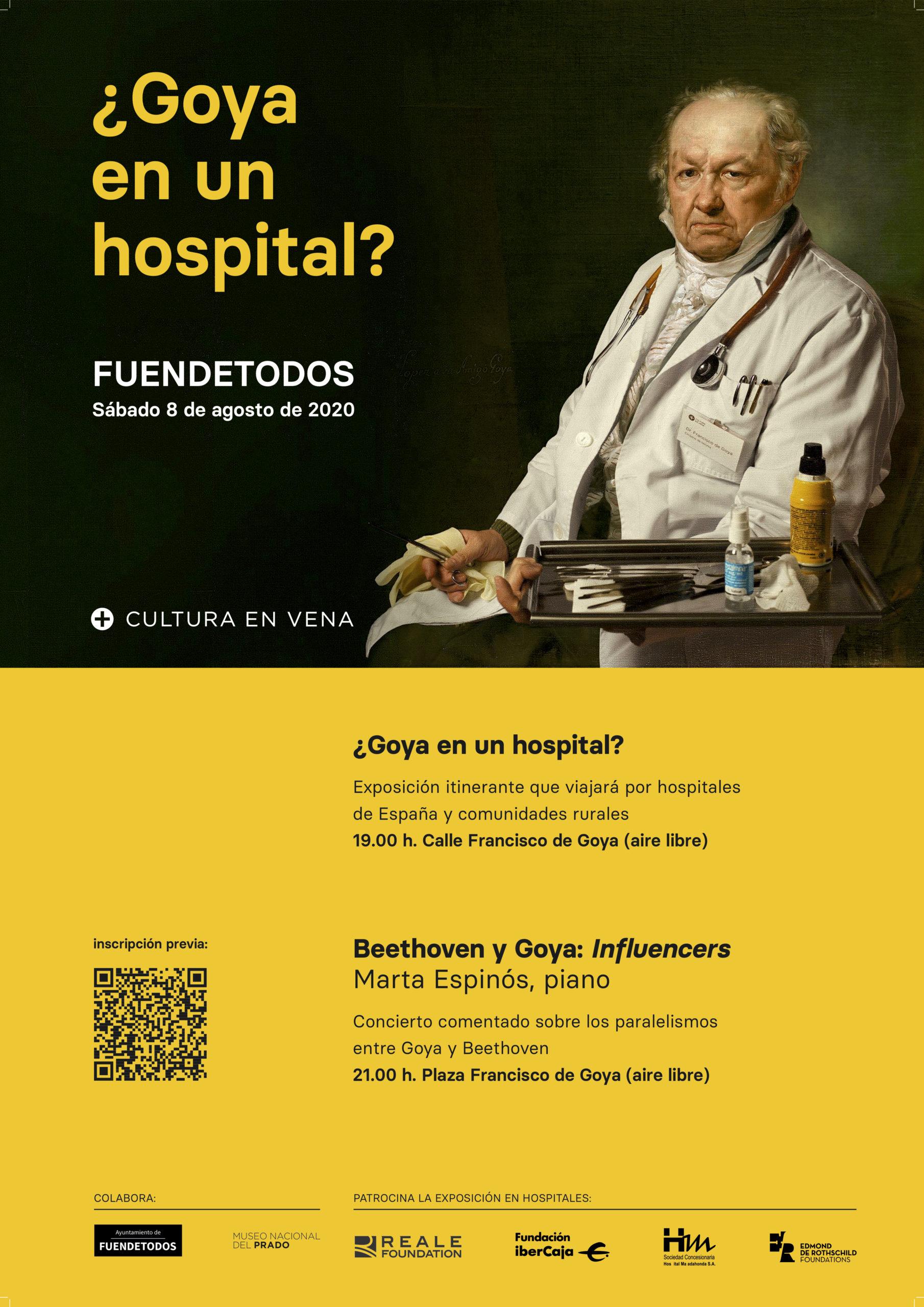 Póster exposición ¿Goya en un hospital? y concierto Marta Espinós_ Cultura en Vena en Fuendetodos